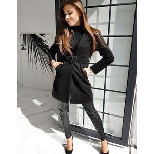 Jednoradový čierny kabát vyobraziť
