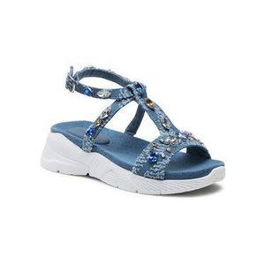 Desigual Sandále Yuniker Denim 21SSHA06 Modrá vyobraziť