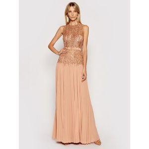 Elisabetta Franchi Večerné šaty AB-131-13E2-V980 Ružová Regular Fit vyobraziť