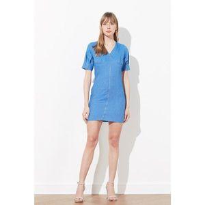 Trendyol Blue Zip Dress vyobraziť