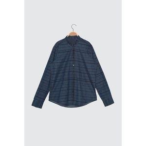 Trendyol Navy Blue Men's Denim Shirt vyobraziť