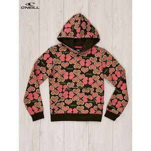 O´NEILL hearts sweatshirt for girls, khaki-coral vyobraziť