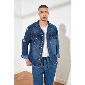 Trendyol Indigo Men's DestroyEr Large Pocket Shirt vyobraziť