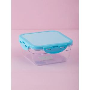 Square blue food container vyobraziť