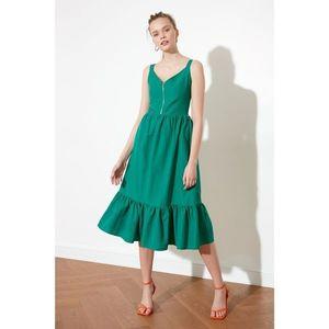 Trendyol Green Gipe Detailed Zip Dress vyobraziť