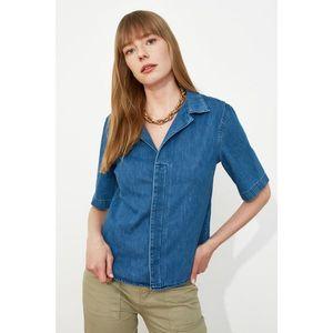 Trendyol Blue Denim Shirt vyobraziť