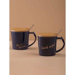 Ceramic navy blue mug vyobraziť