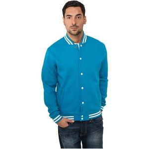 Urban Classics College Sweatjacket turquoise - S vyobraziť