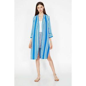 Koton Woman Navy Blue Striped Kimono vyobraziť