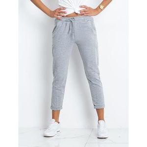 Gray melange sweatpants vyobraziť