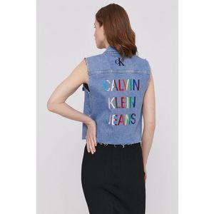 Calvin Klein Jeans - Rifľová vesta vyobraziť