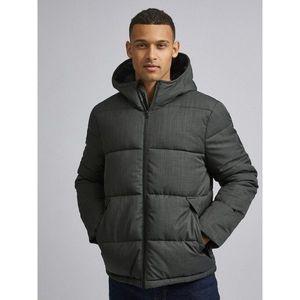 Šedá zimná prešívaná bunda Burton Menswear London vyobraziť