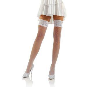 Sesto Senso Woman's Stockings Self-Supporting Fishnet Sexy Brio vyobraziť