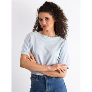 Cotton blue blouse melange vyobraziť