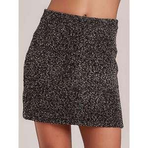 Brown melange pattern mini skirt vyobraziť
