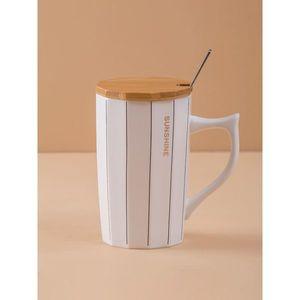 White striped mug vyobraziť