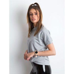 Cotton gray melange blouse vyobraziť