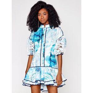 Letné modré šaty vyobraziť