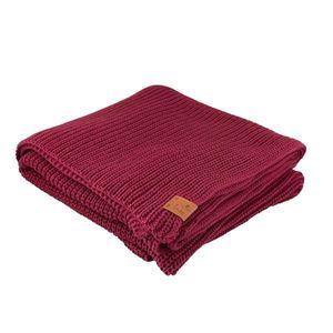 Kabak Unisex's Blanket Burgundy-30036D vyobraziť