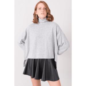 BSL Gray melange oversize sweatshirt vyobraziť