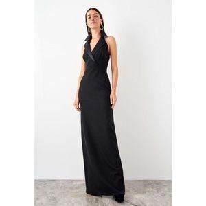 Trendyol dámske večerné šaty so zahnutým golierom vyobraziť