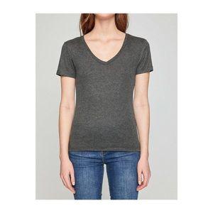 Koton Women's Green Short Sleeve V-Neck T-shirt vyobraziť