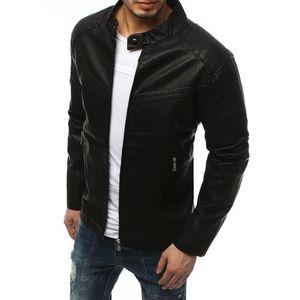 Pánska čierna koženková bunda TX3157 vyobraziť
