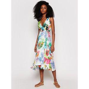 Desigual Letné šaty Seychelles 21SWMW42 Farebná Regular Fit vyobraziť