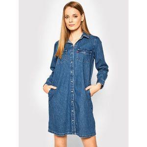 Levi's® Košeľové šaty Selma 85793-0000 Tmavomodrá Regular Fit vyobraziť