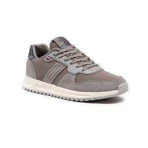 Tommy Hilfiger Sneakersy Modern Corporate Mix Runner FM0FM03423 Sivá vyobraziť