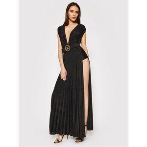 Elisabetta Franchi Večerné šaty AB-149-13E2-V460 Čierna Regular Fit vyobraziť