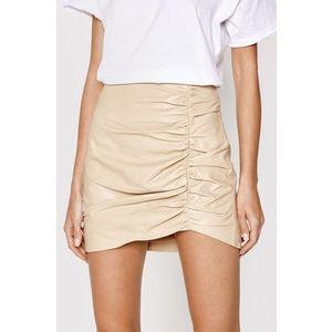 LaMarque Kožená sukňa Aricia Béžová Slim Fit vyobraziť