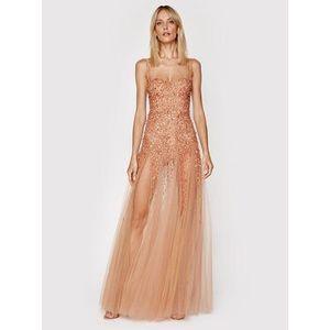 Elisabetta Franchi Večerné šaty AB-022-11E2-V1300 Ružová Slim Fit vyobraziť