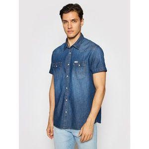 Wrangler džínsová košeľa Western W5J05K30P Tmavomodrá Regular Fit vyobraziť