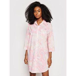 Lauren Ralph Lauren Nočná košeľa ILN32079 Ružová Regular Fit vyobraziť