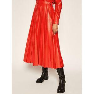 MSGM Kožená sukňa 2941MDD29P 207652 Červená Regular Fit vyobraziť