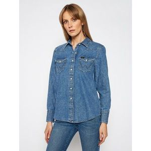 Wrangler džínsová košeľa Western W5WSLW31S Modrá Regular Fit vyobraziť