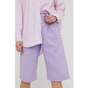 Answear Lab - Rifľové krátke nohavice vyobraziť
