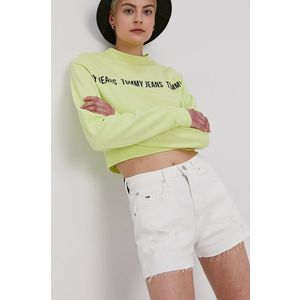 Tommy Jeans - Rifľové krátke nohavice vyobraziť