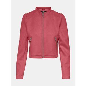 Ružová bunda v semišovej úprave ONLY vyobraziť