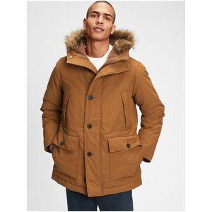 Hnedý pánsky kabát GAP vyobraziť