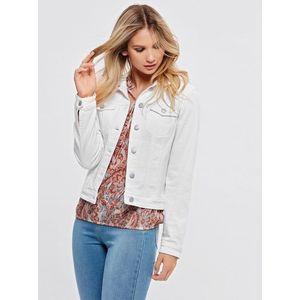 Biela rifľová bunda M&Co vyobraziť