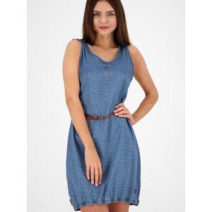 Modré vzorované rifľové šaty s opaskom Alife and Kickin vyobraziť