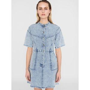 Svetlomodré rifľové šaty Noisy May Amy vyobraziť