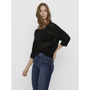 Čierny dlhý ľahký sveter VERO MODA Yoyo vyobraziť