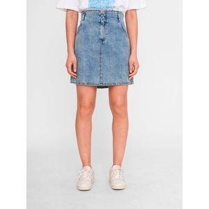 Modrá rifľová sukňa Noisy May Ashley vyobraziť