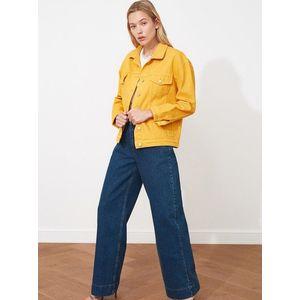 Horčicová dámska voľná rifľová bunda Trendyol vyobraziť