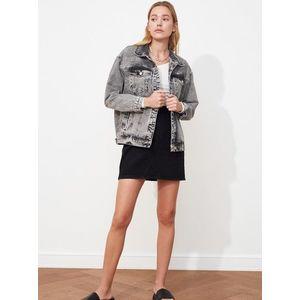 Šedá dámska rifľová bunda Trendyol vyobraziť