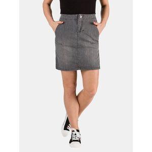 Šedá dámska rifľová púzdrová sukňa SAM 73 vyobraziť