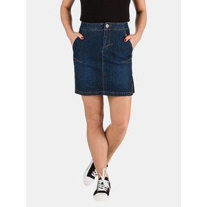 Tmavomodrá dámska rifľová púzdrová sukňa SAM 73 vyobraziť